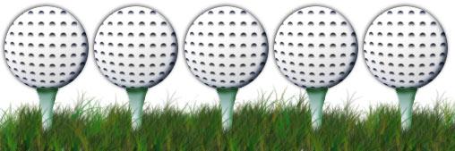5 balles de golf